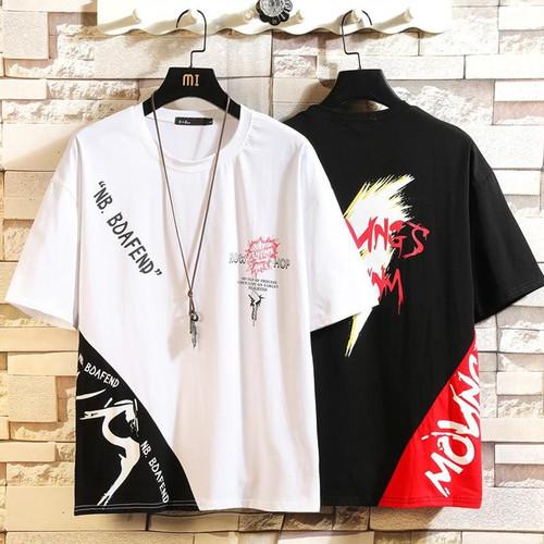 Short Sleeve T Shirt Men 2020 Summer Patchwork Tshirt Top Tees HIP HOP PUNK ROCK