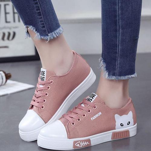2020 Woman Vulcanized Women Flats Canvas  Sneakers Ladies Round Toe Plus Size 41