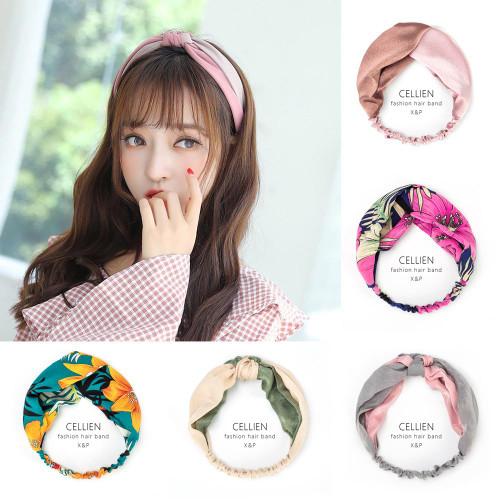 Women Girls Summer Bohemian Hair Bands Print Headbands