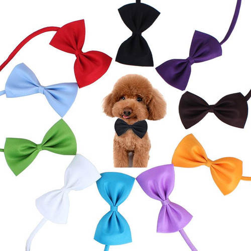 Adjustable Dog Cat Bow Tie pet bow Necktie different Colors Pets Accessories supply