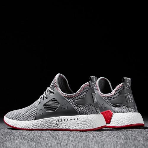2018 Fashion Men Shoes Casual Weaving Fly Mesh Breathable Light Soft Black Slipon Mens Shoe Male Trainers Sneakers Human Race - Joelinks store