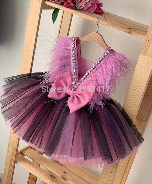 Girls Dresses summer Kids Princess Dress O-neck Ball Gown