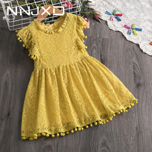 3 4 5 6 7 8 Years Toddler Kids Baby Girls Dress Fly Sleeve Dresses