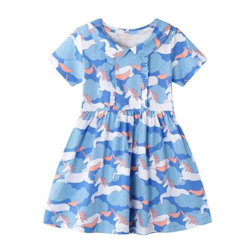 2020 Unicorn Girl Dress Kids Dresses For Girls Summer Dress