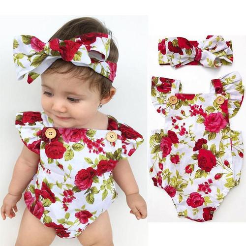 Elegant Baby Dresses Headband 0-24M Age Infant Toddler