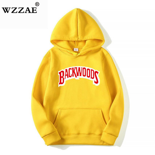 The screw thread cuff Hoodies Streetwear Backwoods Hoodie Sweatshirt Men