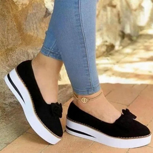 2020 Summer Women Flats Shoes Platform Sneakers Slip On Flats Leather Suede