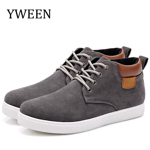 YWEEN Men's Casual Shoes Cotton Spring Autumn Lace-up Shoes