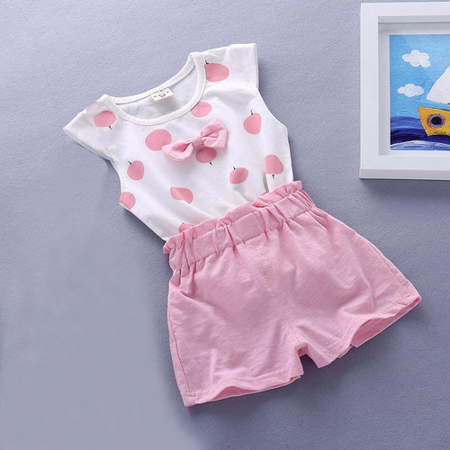 Summer tank  cotton outfits for Toddler kids baby girls