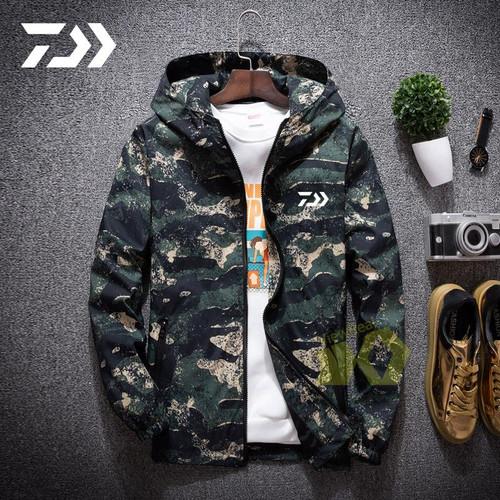 Camouflage Daiwa Hoodie In Fishing  Jacket Men