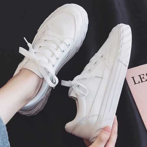 White Leather Sneakers Womens Leather Shoes Unisex Sneakers