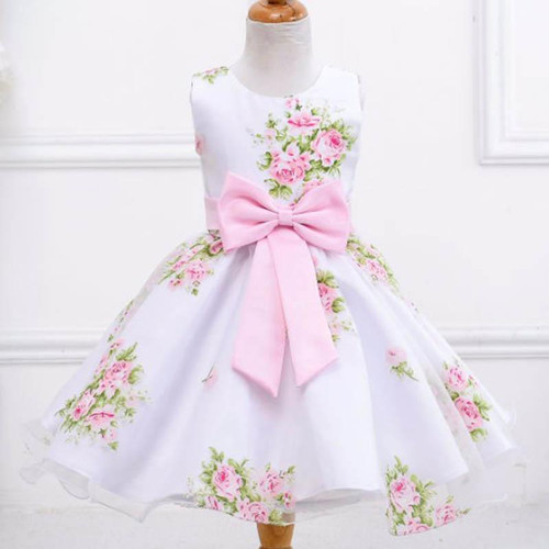 Summer Flower Baby Girl Dress Wedding Girls Kids Party Dress