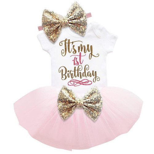 Baby Girl First Birthday Outfits Summer Baby Clothes Toddler Girl
