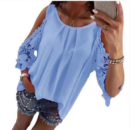 Womens  Casual Tops Loose Blouses Shirt For Summer