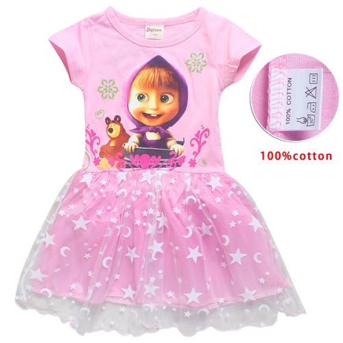 Baby Girl MASHA BEAR Princess Dress