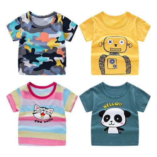 Children's short sleeve t-shirt cotton t-shirts boy kid boys and girls tops