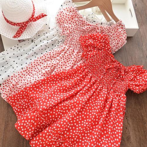 Elegant Girls Garden Floral Sleeve Baby Dress