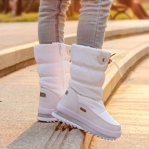 2018 Winter Platform girls Boots Children Rubber anti-slip Snow Boots Shoes for girl big Kids Waterproof Warm Winter Shoes Botas - Joelinks store