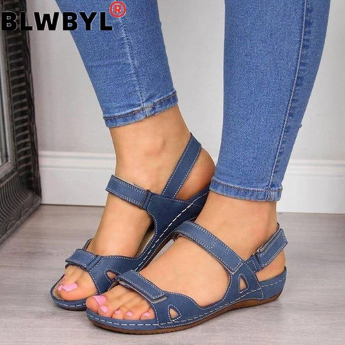 Women Summer Open Toe Comfy Sandals Shoes