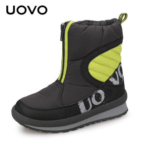 UOVO 2018 New Winter Shoes For Boys And Girls High Quality Fashion Kids Winter Boots Warm Snow Children's Footwear Size 30#-38# - Joelinks store