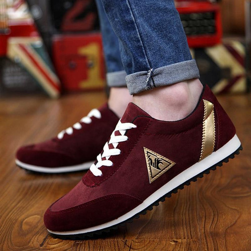 Men Casual Low-top  Loafers Shoes Sneakers