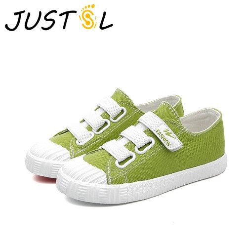 JUSTSL Summer new children's casual canvas shoes boys girls teenage shoes five color fashion sneakers for kids size25-37 - Joelinks store
