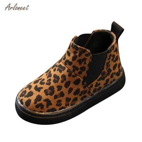 Leopard  Print Boot Shoes for Kids Girls