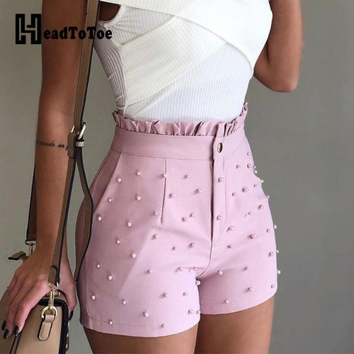 Summer High Waist Shorts For Ladies Women