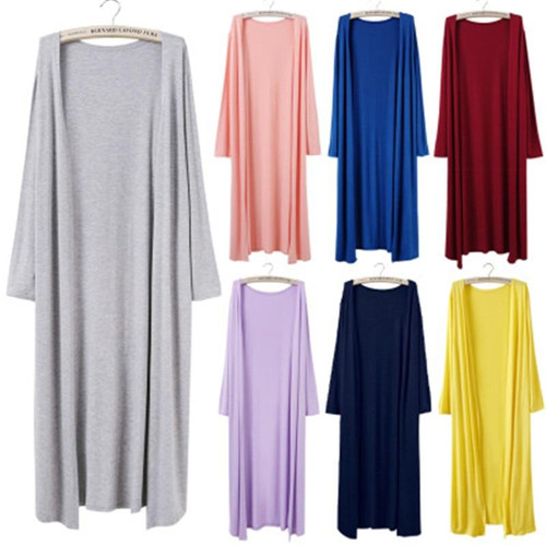 Casual Long Modal Cotton Sweater Cardigan For Women Ladies