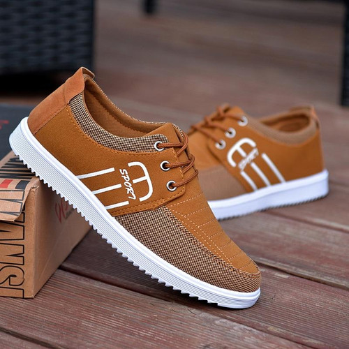 Brand Casual Fashion Shoes Breathable Canvas For Men