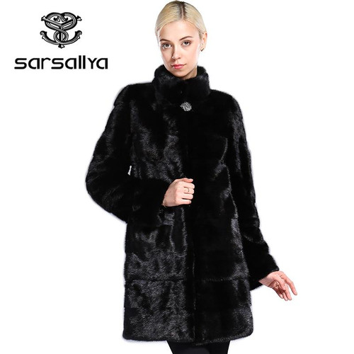 Natural Fur Mink Coats And Jackets For Women Plus Size 6XL 7XL