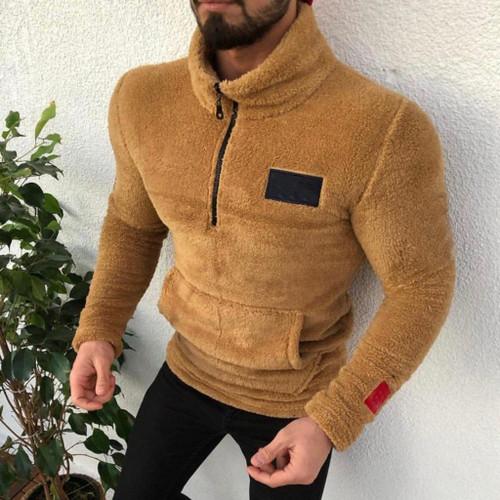 JAYCOSIN Casual Men's jacket Raglan Zipper For Men
