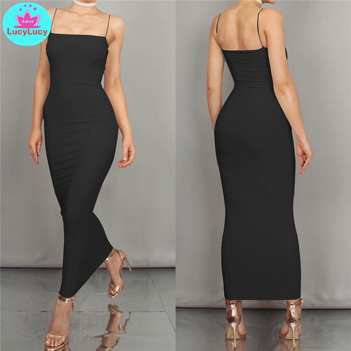 New Sexy Slim Tight Summer Long Dresses for Ladies Women