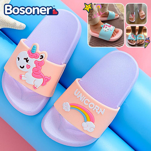 Rainbow Unicorn Summer Slippers For Kids Toddlers
