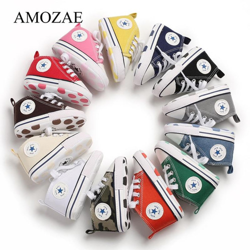 New Canvas Sports Sneakers Shoes Newborn for Toddlers Children Boys Girls