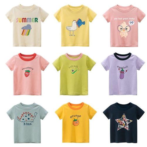 New Summer T Shirt Fashion Print for Kids Children Boys Girls