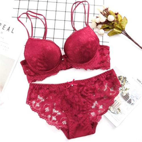 New  Lace Embroidery Bra Set Women Plus Size Push Up Underwear