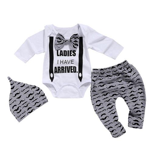 Newborn Clothing Set Baby Boys clothes Set 3Pcs Bow Tie Infant Children