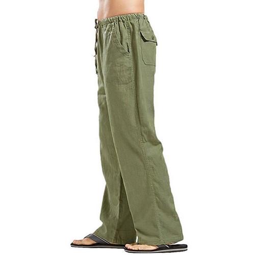 Mens Pants Cotton Linen Casual Pants for Men