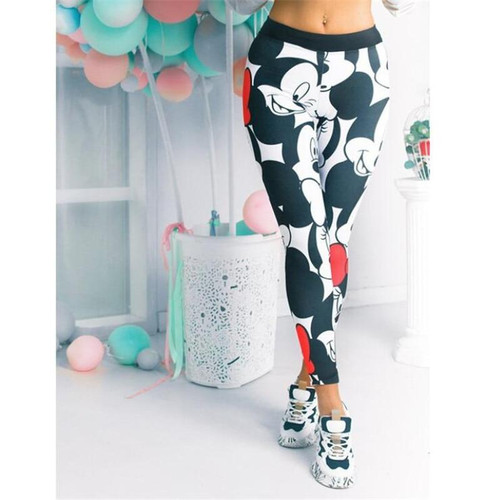 Fashion Mickey Women Leggings Women Sport Pants Women Gym