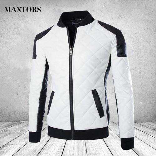 Men's Leather Jackets Casual Motorcycle Bike Outwear Velvet