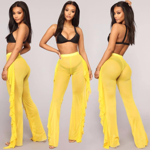New Sexy Leg Pants Transparent See through For Women Ladies