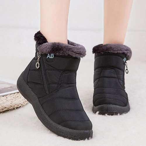 Snow Boots Plush Warm Ankle Boots For Women Ladies