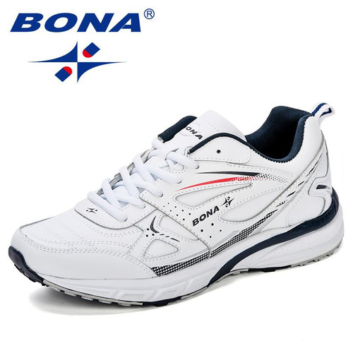 BONA New Style Running Shoes For Men Sneakers Zapatillas Hombre Sport Shoes Male Trainers Cow Split  Athletic Outdoor Men Shoes - Joelinks store