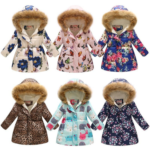 Winter Girl Coat Warm Baby Down Jacket Kids Fashion