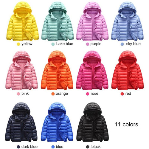 Duck Down Jacket CoatJacket Hood Winterf For  Baby Infant Children Kids