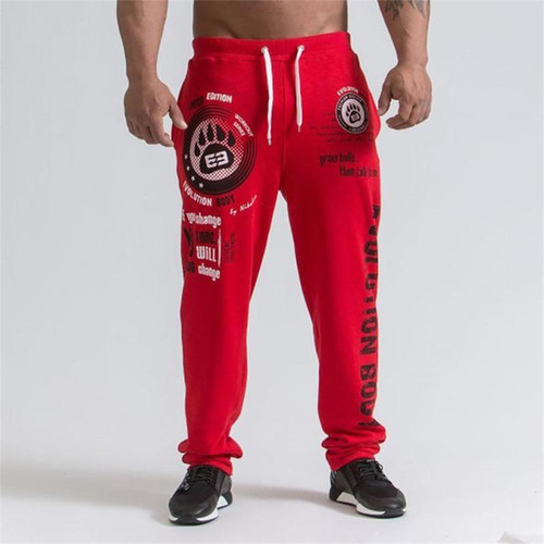 New Running Jogging Pants Men Cotton Soft Bodybuilding Joggers Sweatpants