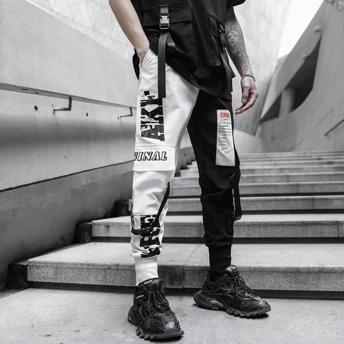 Multi-pocket Elastic Waist Harem Hip Hop Pant For  Men