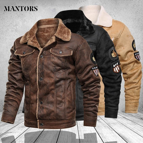 Mens Leather Jackets Motorcycle Fashion Stand Collar Zipper Pockets Male
