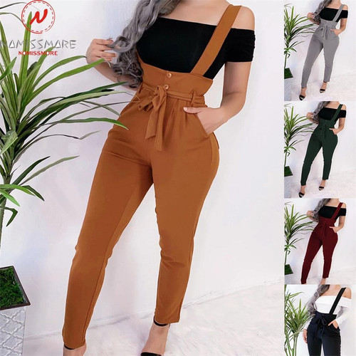 Women Streetwear  High Waist Pencil Pants Ladies